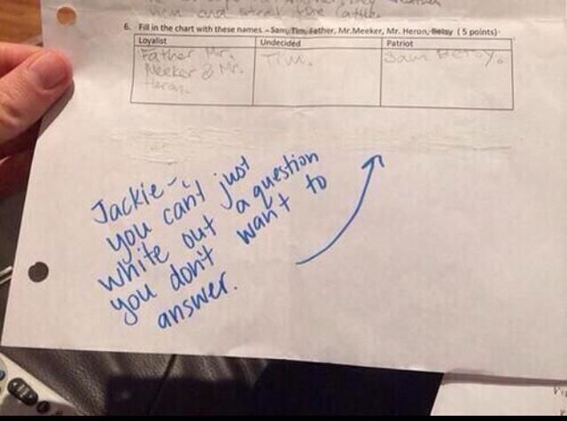 jackie funny test