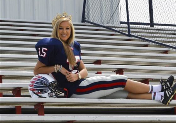 homecoming queen plays football