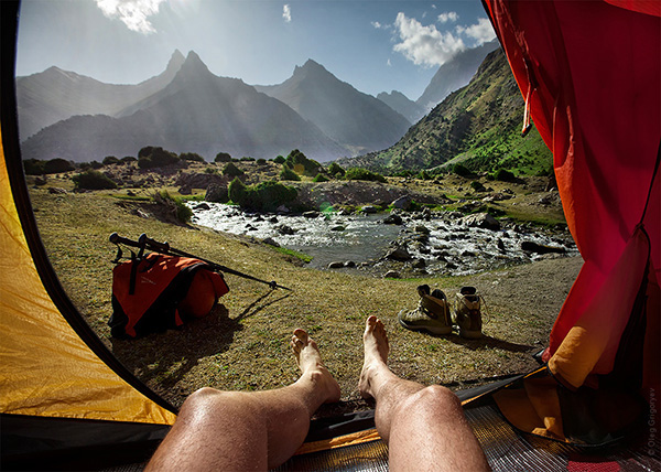morning views from a tent