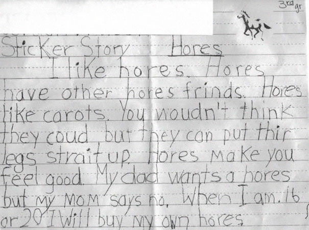 funny children spelling mistakes