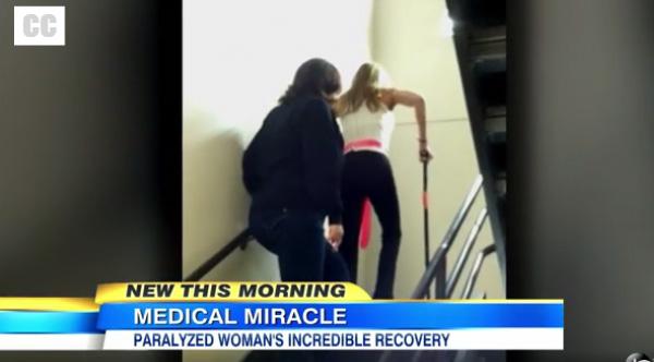 paralyzed woman walks pregnant