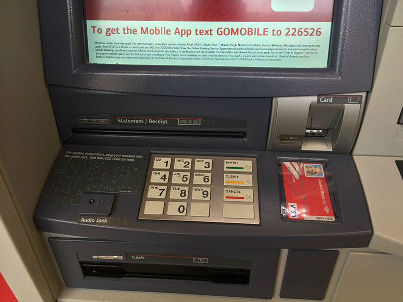 how to detect ATM skimmer