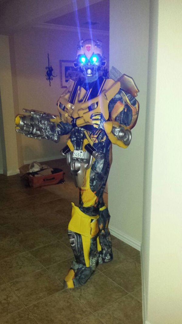 Amazing homemade Transformer costume. Halloween pumpkins and costumes & Halloween Costumes And Pumpkin Carvings Get Better And Better Every Year