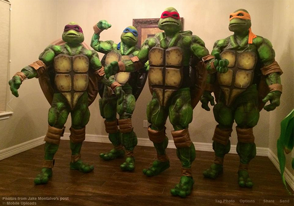 Halloween costumes and pumpkin carvings get better and better every year incredible homemade ninja turtle costumes halloween pumpkins and costumes solutioingenieria Image collections