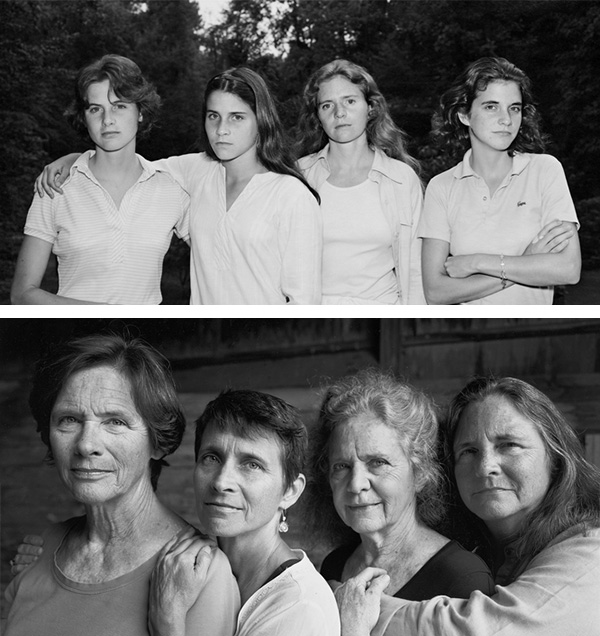four sisters picture every year
