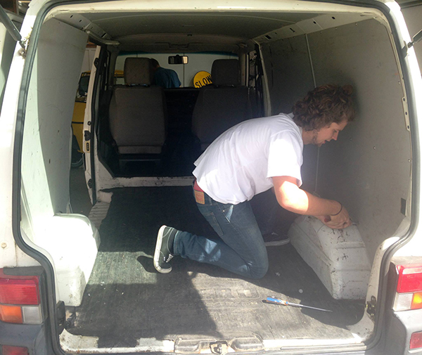 Two 20 Year-Old Guys Gutted Their Van And Built A Free