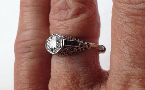 diamond ring found in sewage