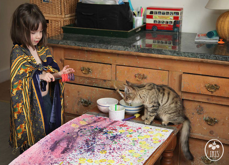 Grace amazing paintings 5 year old