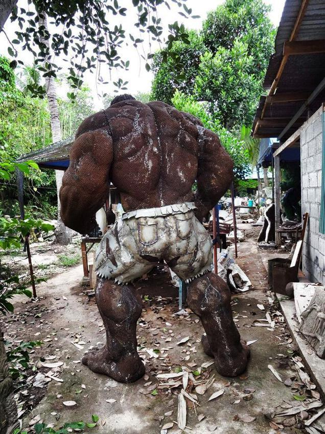scrap metal hulk