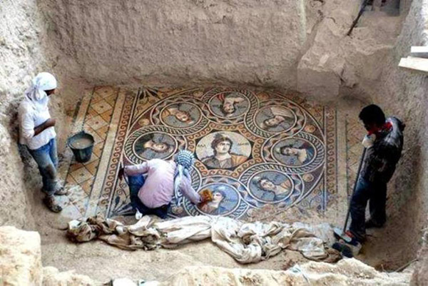 Stunning Ancient Greek Floor Mosaics Were Just Excavated In Southern Turkey