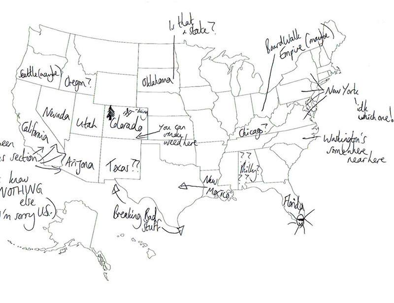 People In London Tried To Label The 50 US States On A Map. These Are ...