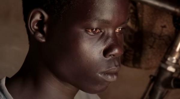 deaf Uganda boy sign language teacher arrives