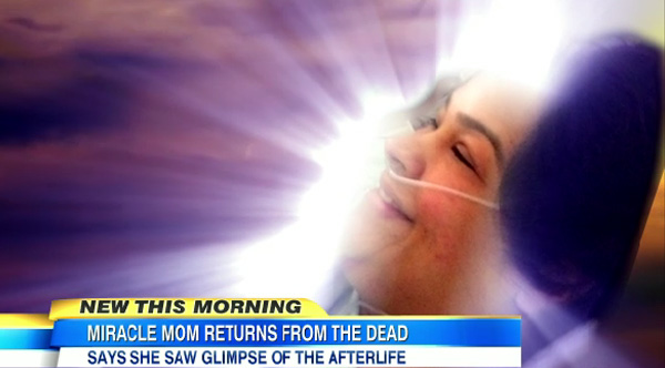 woman dies comes back to life