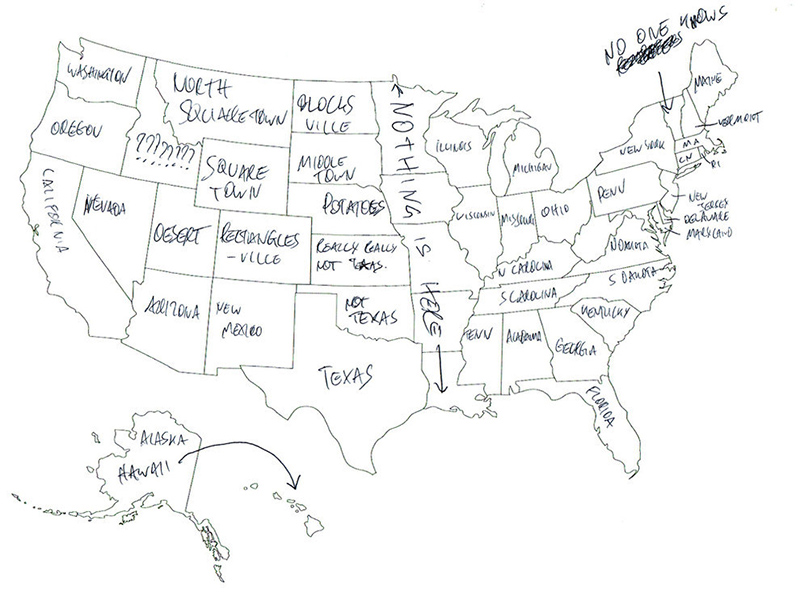 People In London Tried To Label The US States On A Map These - States on us map