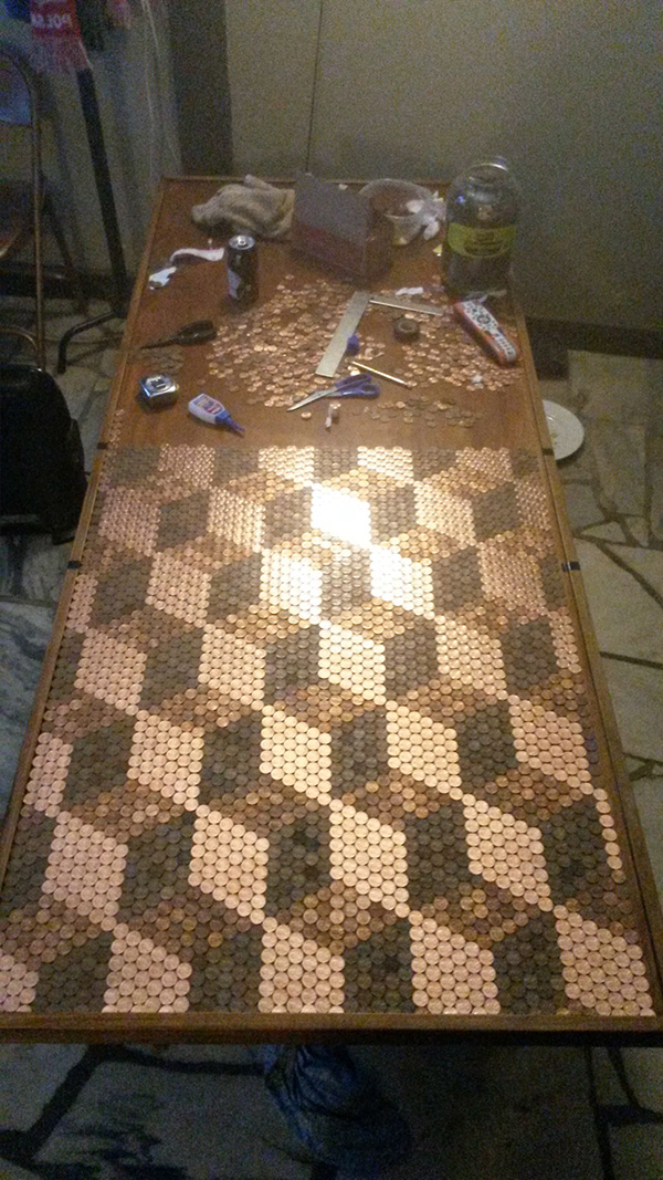 penny table top