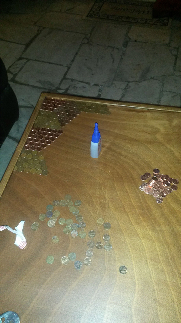 He Used Over 5 000 Pennies To Make This Unique Tabletop