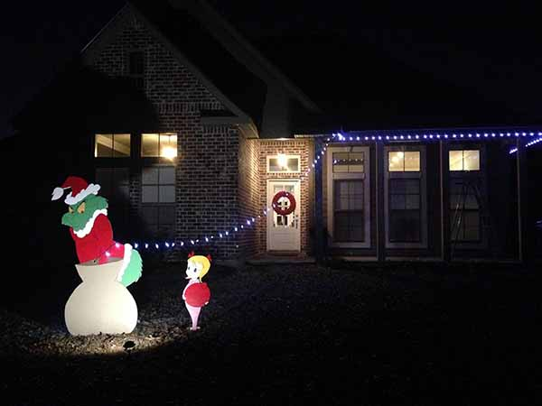 Clip art christmas house lights