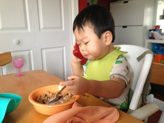 Funny Meme Baby Pictures : Dad shared this funny picture of his son on facebook soon after