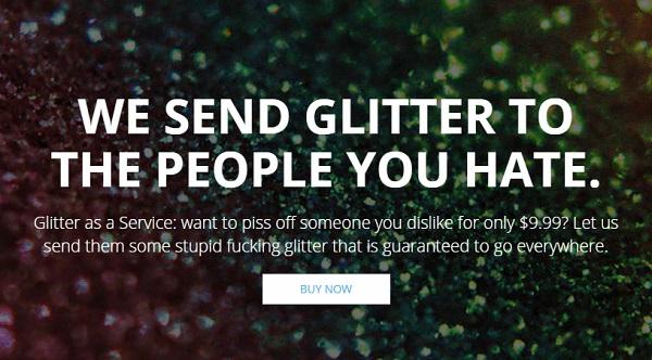 send glitter in the mail