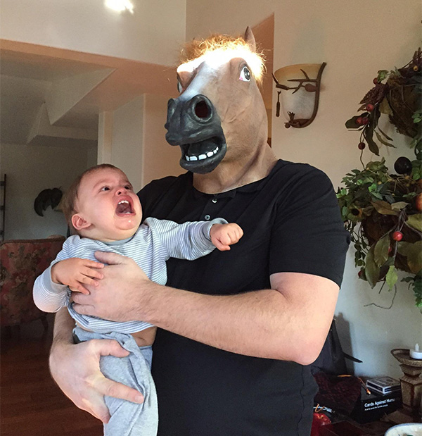 funny uncle horse mask