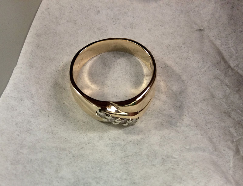 wedding ring garbage disposal repair
