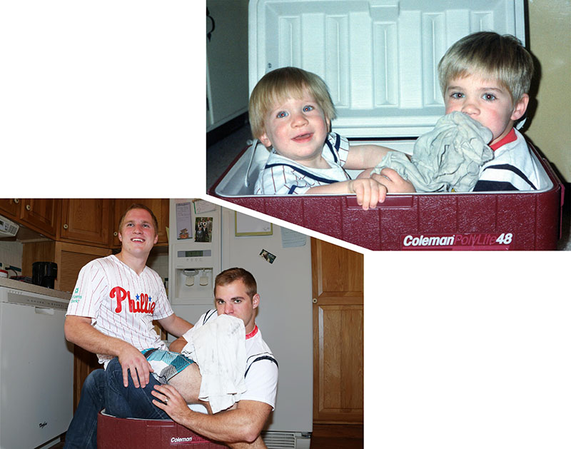 brothers create calendar for mom old photos