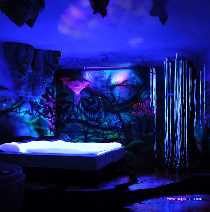 glowing bedroom murals
