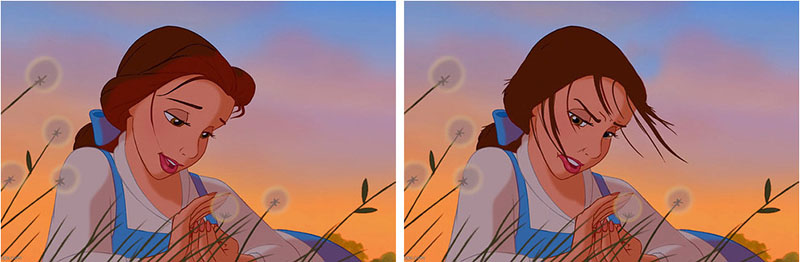 Disney princesses with real hair