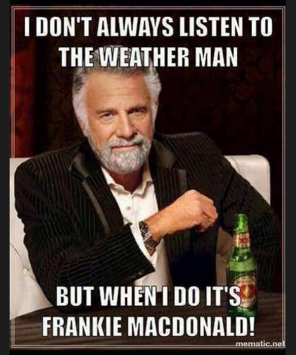 Frankie weather man