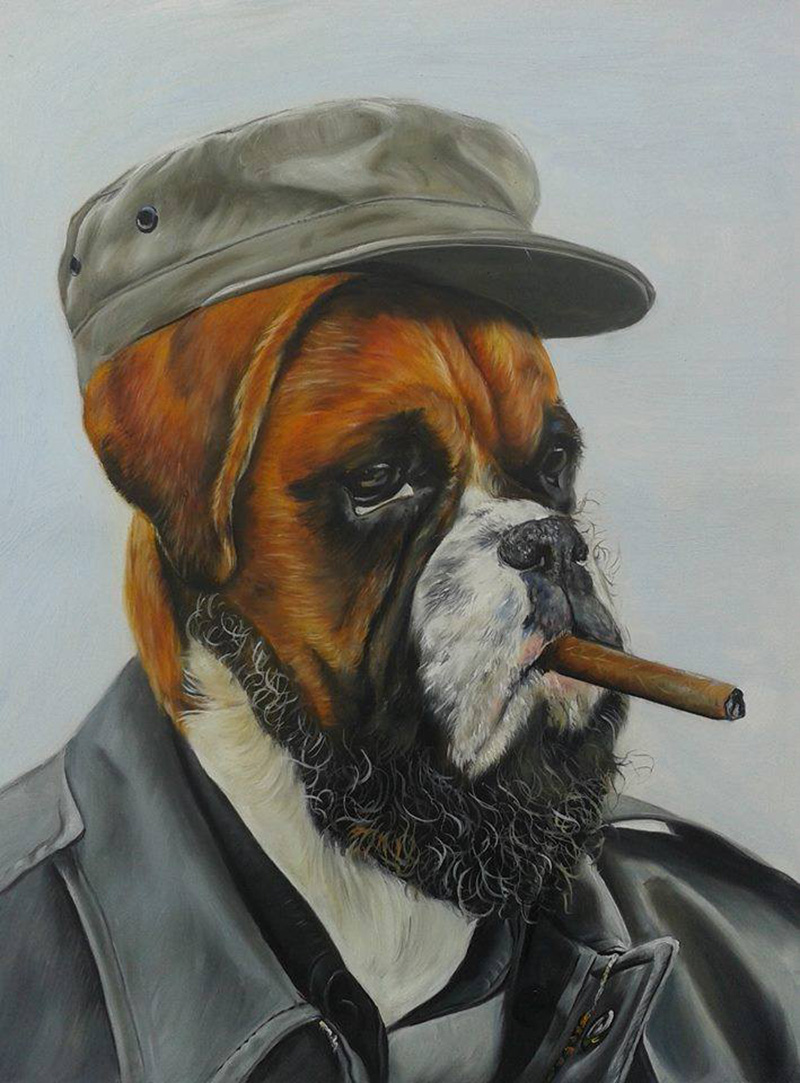 funny oil paintings of animals