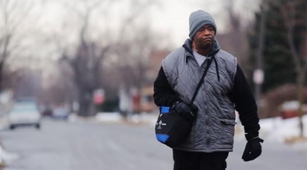 man walks 21 miles to work