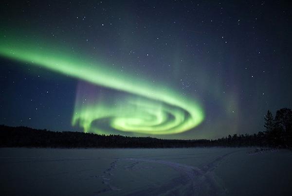 aurora over finland