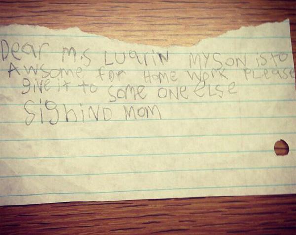 funny kid letter to teacher