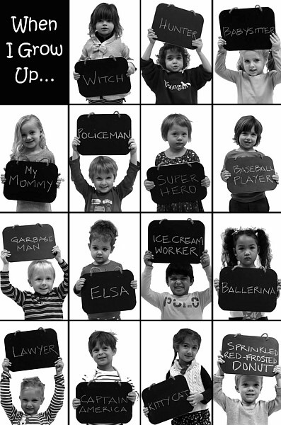 kids asked what to be when grow up
