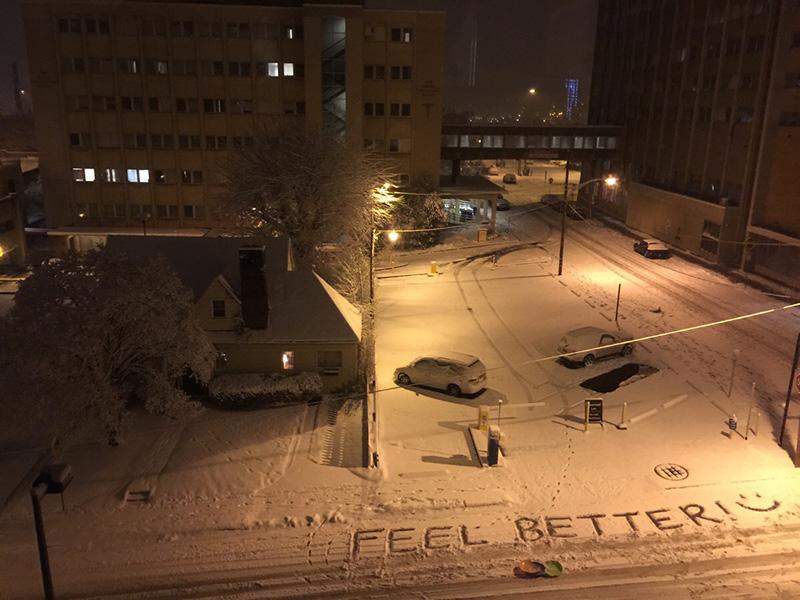 feel better in snow hospital
