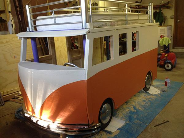 daughters bed VW van