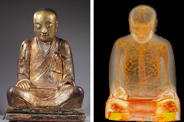 buddah statue mummy