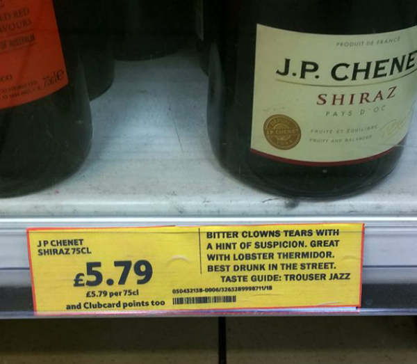 funny wine labels