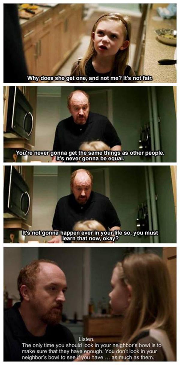 louis ck parenting advice