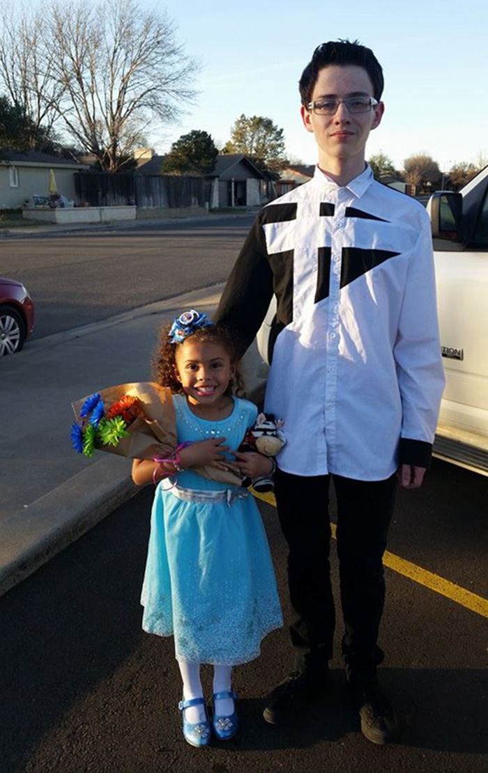 brothers take sisters to father daughter dance