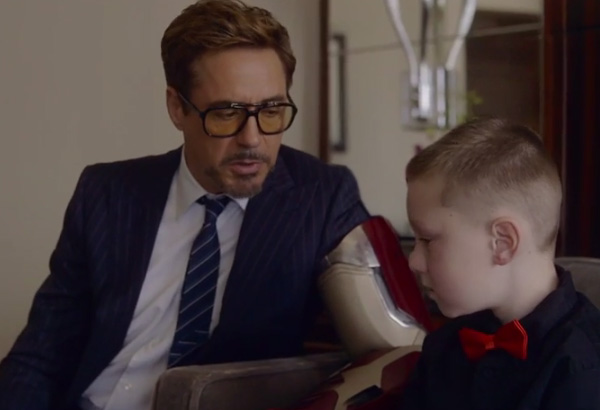 robert downey jr surprises kid with bionic arm