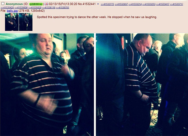 fat man dancing shamed in public