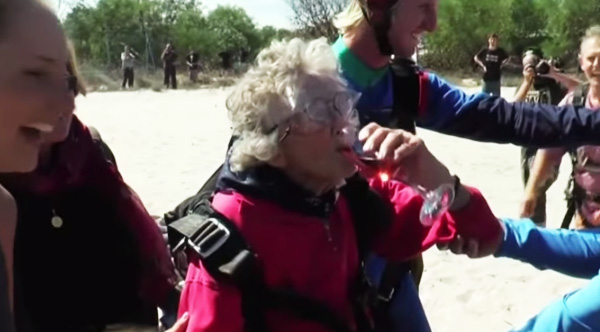 woman skydives 100th birthday