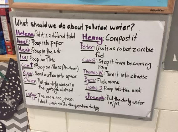 funny kid answers to polluted water