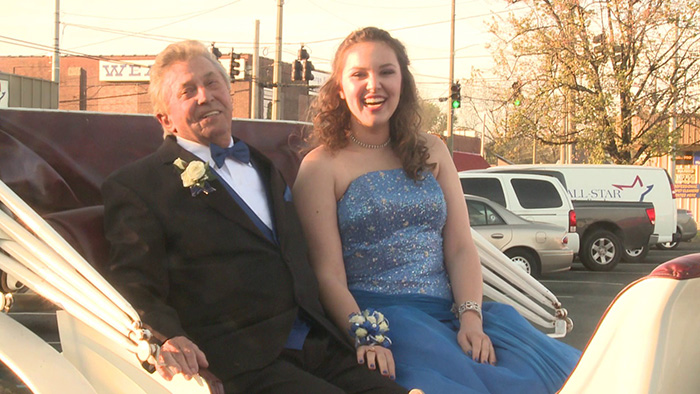girl takes grandpa to prom