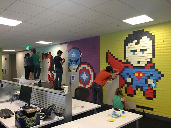 office superhero post its