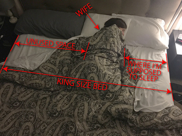 king size bed funny diagram