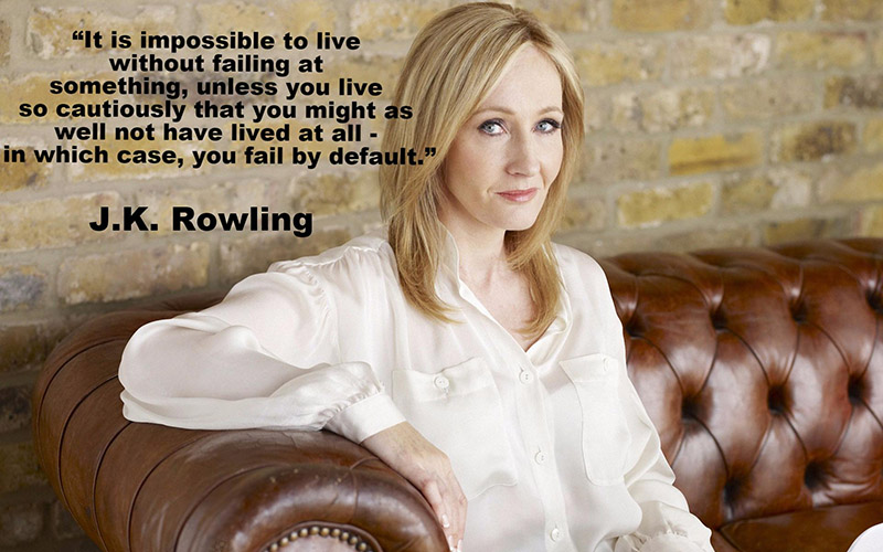 JK Rowling on failure motivational quote