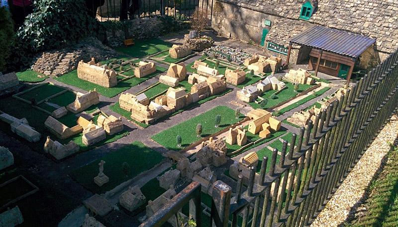 model village with model inside