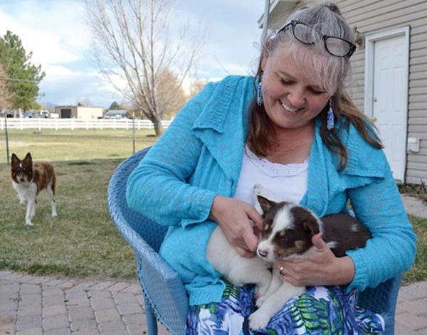 woman saves shot dog pregnant